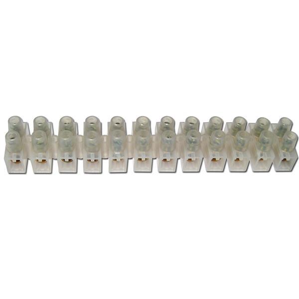 Lüsterklemmen, 1 Leiste à 12 Pole für 4,0-6,0mm²