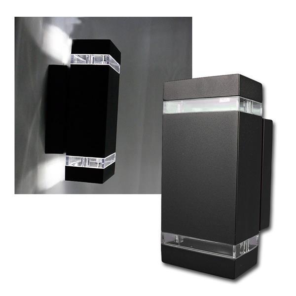Außen Wandleuchte schwarz eckig daylight 2x250lm