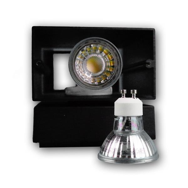 LED Wandstrahler für 2 GU10 LED Leuchtmittel