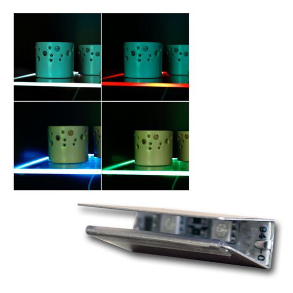 4er Set LED Glasbodenbeleuchtung RGB Fernbedienung