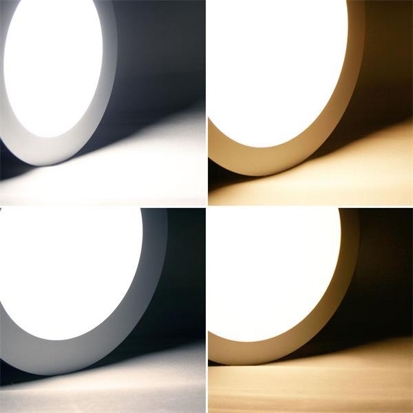Rundes LED Panels zum Einbau oder Aufbau im warmweiß oder daylight