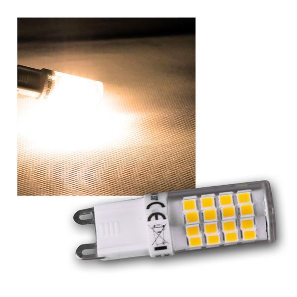 LED Stiftsockel G9 warm weiß 4W 270lm 3000k 330°