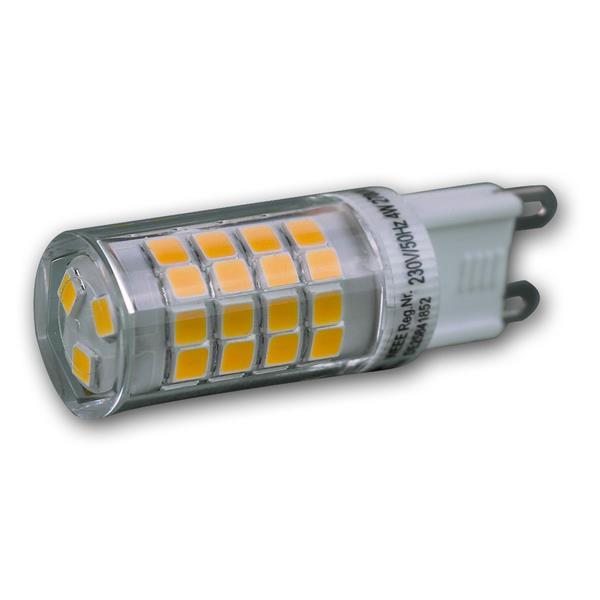 G9 LED Strahler für 230V mit dem Maß 16x50mm (øxL) ideal für z.B. Schreibtischleuchten
