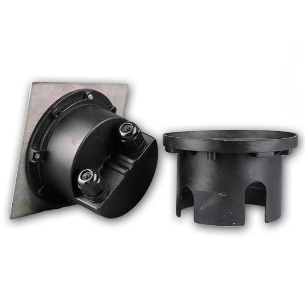 LED Bodeneinbauspot IP65 befahrbar mit Einbauhülse für die Bodenmontage