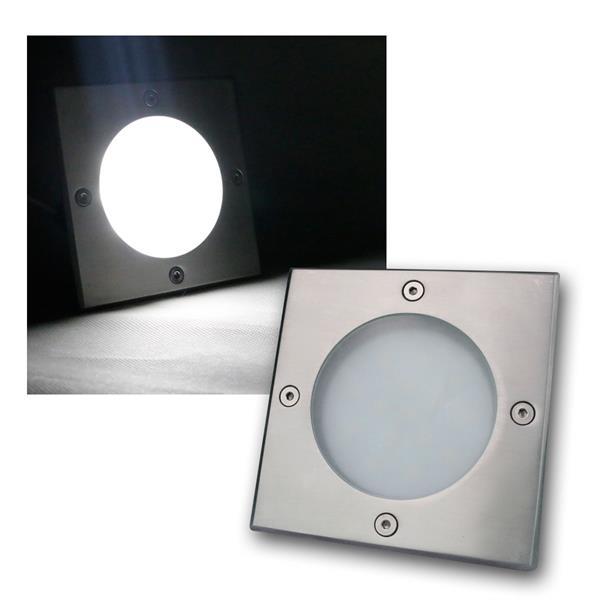 LED Bodeneinbauleuchte eckig daylight 240lm 3W