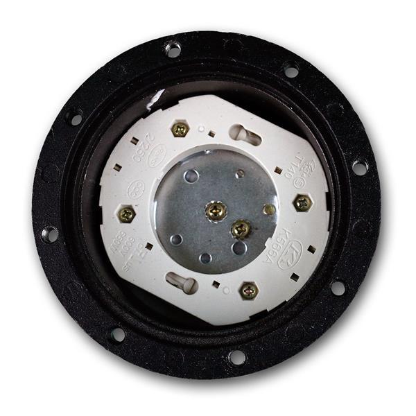 LED Bodenleuchte IP65 mit GX53 Sockel hier Sicht von oben ohne Leuchtmittel
