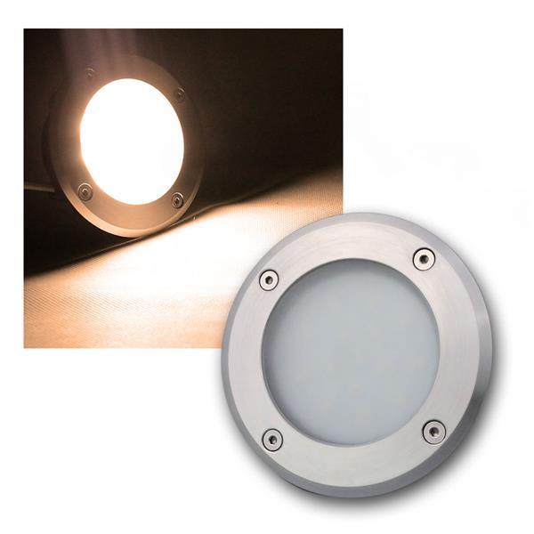 LED Bodeneinbauleuchte rund warm weiß 220lm 3W