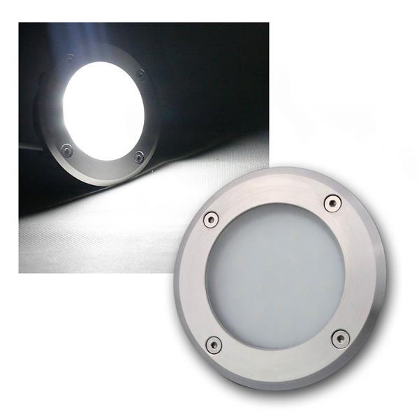 LED Bodeneinbauleuchte rund daylight 240lm 3W