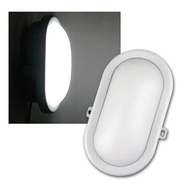 LED Oval Feuchtraum-Leuchte weiß 230V/10W 700lm