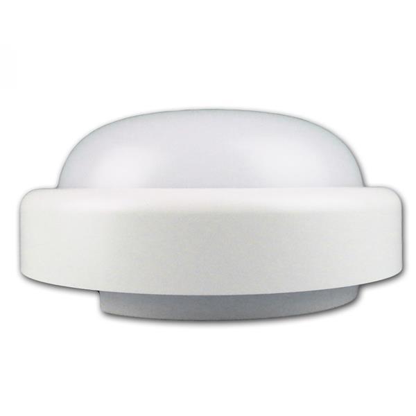 weiße LED Feuchtraumleuchte mit opalfarbiger Abdeckung