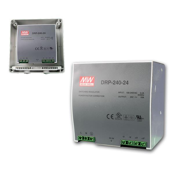 24V Transformator für DIN-Schiene, max.240W/ 0-10A