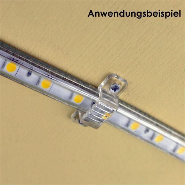 Clips für sicheren Halt für 230V LED Strips