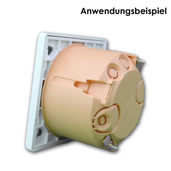 passend für Schalterdosen Ø60mm und Hohlwandosen Ø68mm