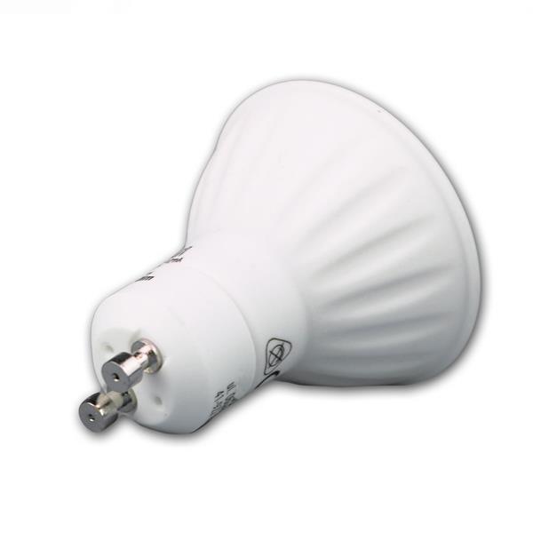 GU10 LED Spot für 230V hat das Maß 50x59mm (øxL) im Kunststoffgehäuse