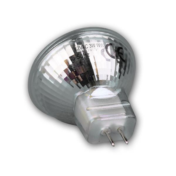 MR11 Energiesparlampe mit dem Maß 35x35mm und 3000k