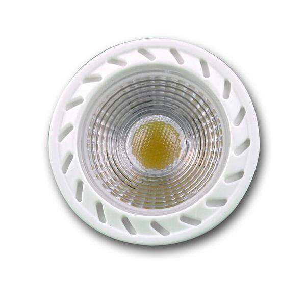 LED Leuchtmittel dimmbar GU10 hat eine Highpower COB LED mit hoher Leuchtkraft