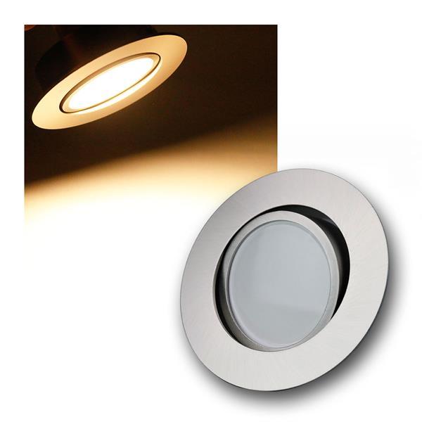 5W LED Einbauleuchte rund Edelstahl schwenkbar 395lm