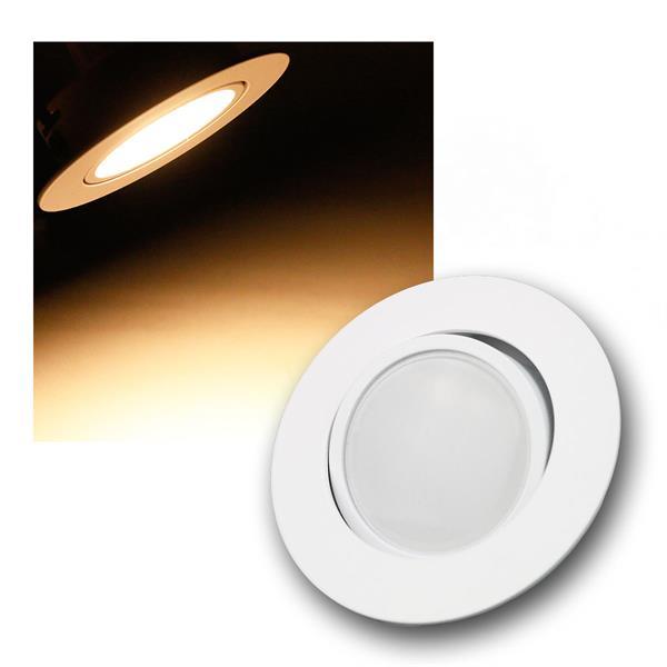 5W LED Einbauleuchte rund und weiß schwenkbar 395lm