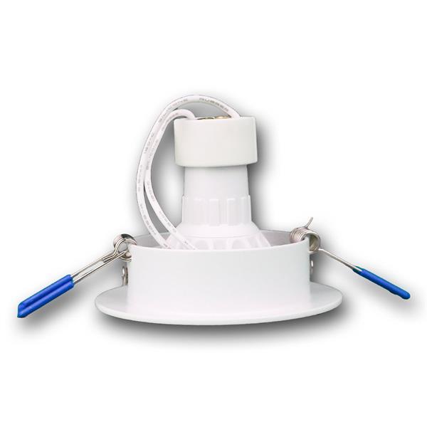 LED Downlightrahmen mit stabilen Halteklammern