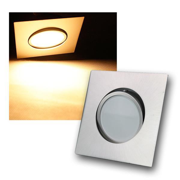 5W LED Einbauleuchte eckig Edelstahl schwenkbar 395lm