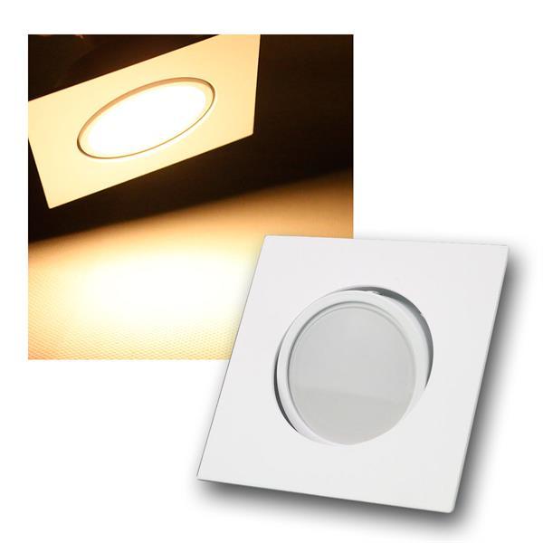 5W LED Einbauleuchte eckig und Farbe weiß schwenkbar 395lm