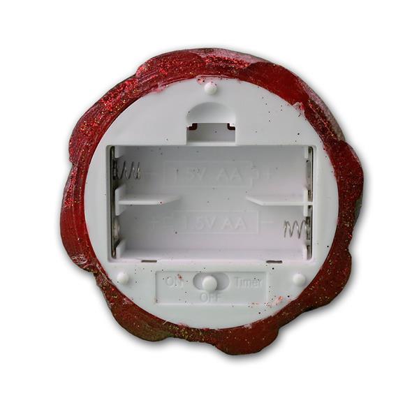 LED-Wachskerze Twinkle Flame rot 13 x 8 cm