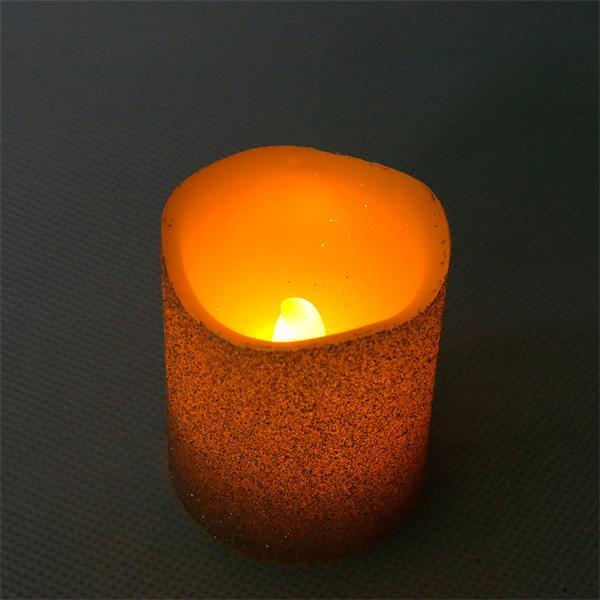 3er LED-Wachskerzen Set silber mit Flackerlicht