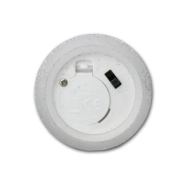 3er LED-Wachskerzen Set silber batteriebetrieben