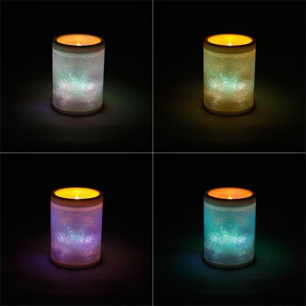 LED-Kerze mit warm weißem Licht und sanften Farbübergang
