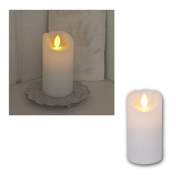LED Wachskerze Glow Flame weiß Timer 10x5,5cm