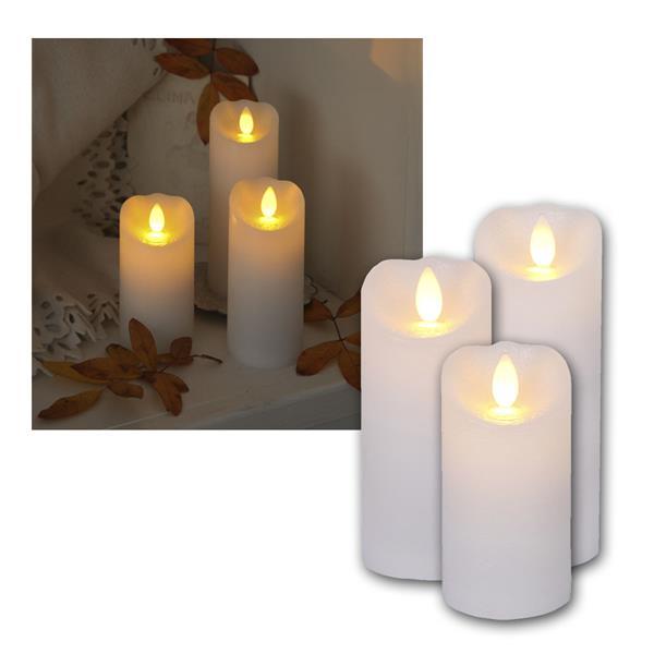 "LED-Wachskerze ""Glow Flame"" weiß Kerze mit Timer"