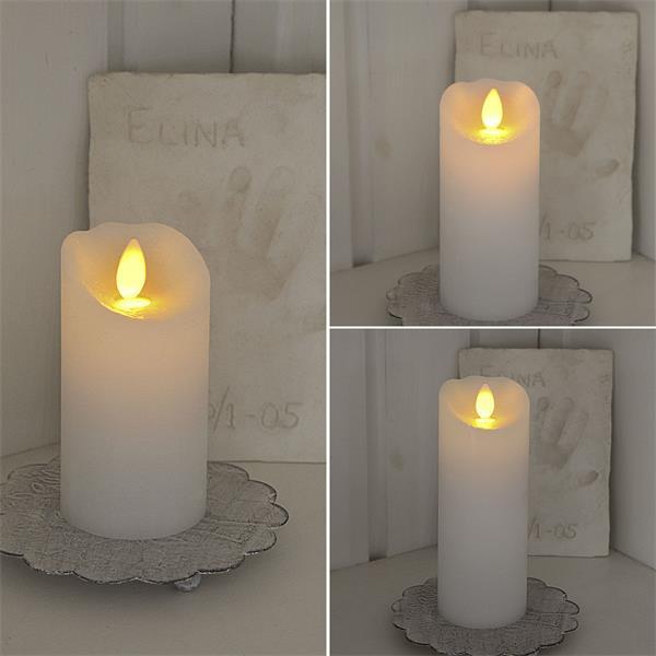 "Weiße LED-Wachskerze ""Glow Flame"" mit Timer"