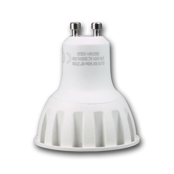 COB LED Energiesparlampe dimmbar Sockel GU10 für 230V und nur 6W Verbrauch