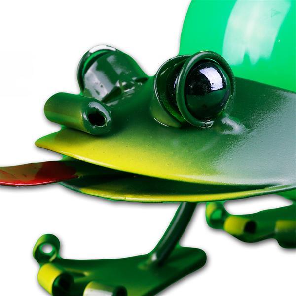 Solar LED Dekoration Frosch mit großen Glasaugen