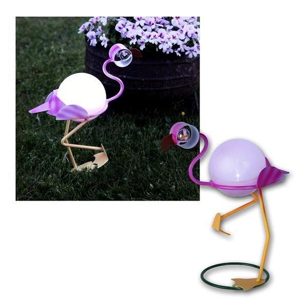 Solar LED Dekoration Flamingo, 26x23cm, kalt weiß