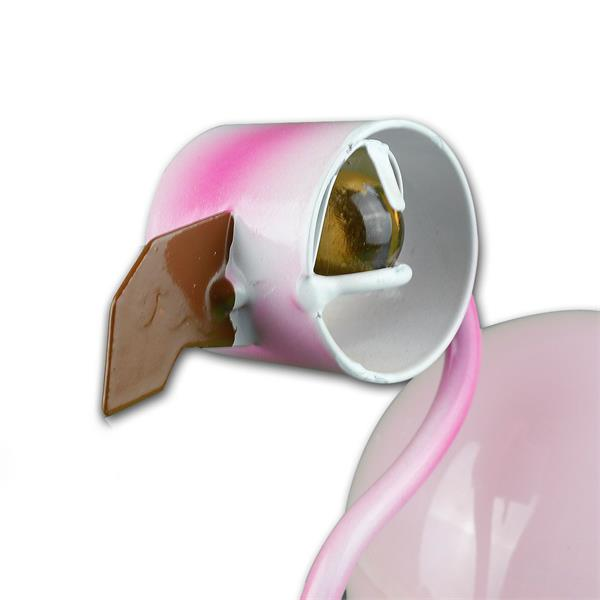 Solar LED Dekoration Flamingo mit großen Glasaugen