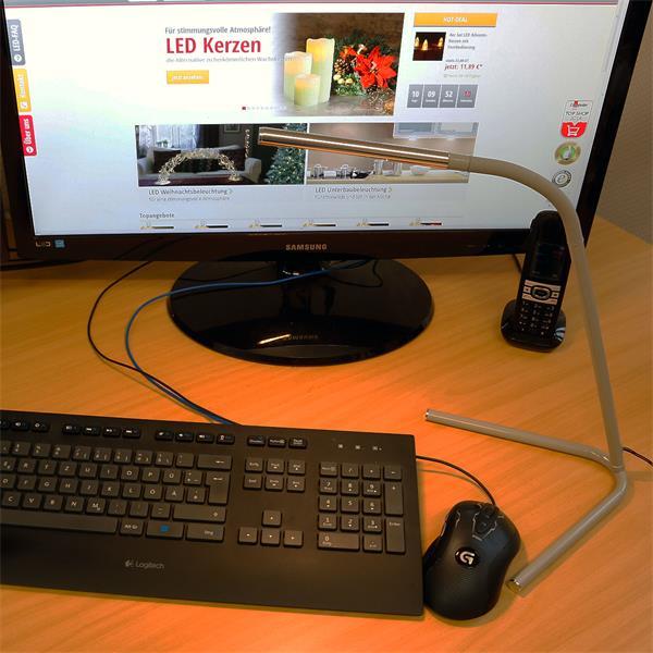 LED Leuchte leuchtet die Tastatur optimal aus