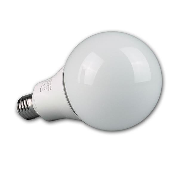 LED Glühbirne dimmbar ist mit dem Maß von 95x158mm doppelt so groß wie einen Standard Glühlampe