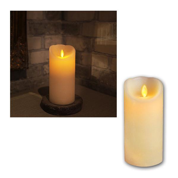 LED Wachskerze Twinkle Flame 17,5cm, elfenbein