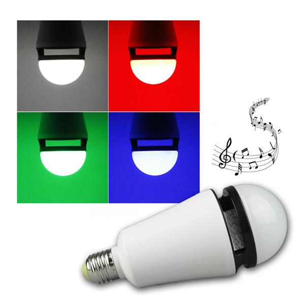 E27 LED Bluetooth Leuchtmittel, RGB Multicolor, 4W
