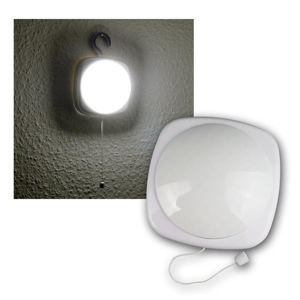 LED Schrankleuchte weiß, Schnurschalter & Haken