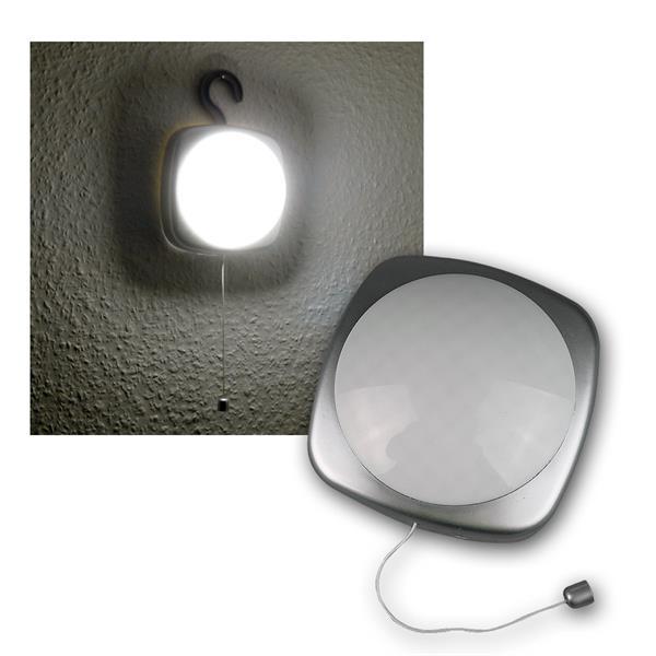 LED Schrankleuchte silbern, Schnurschalter & Haken