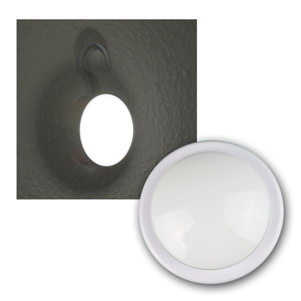 LED-Schrankleuchte weiß mit Haken, Clickleuchte