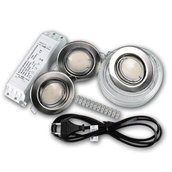 LED Einbauspot 3er ist ein echtes Komplett-Set!