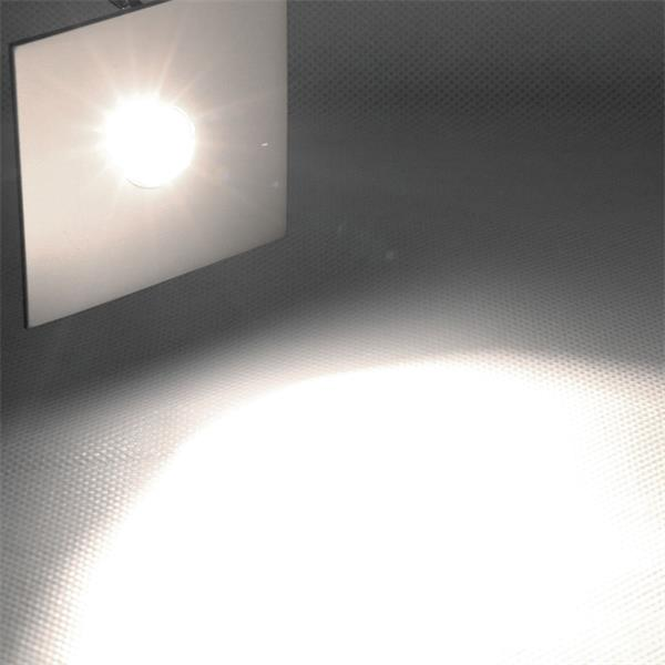 4er Set LED-Einbaustrahler Chrom eckig, neutral-weiß