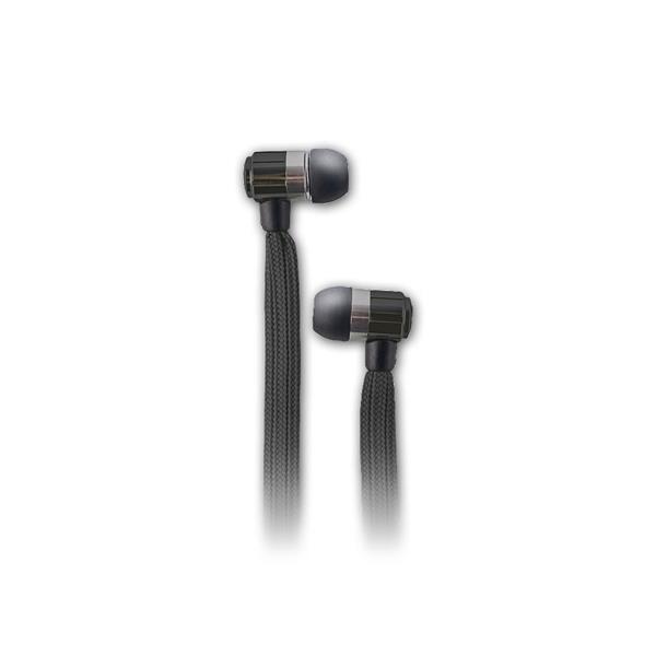 In-Ear-Kopfhörer mit Mikrofon mit schwarzen Kabel