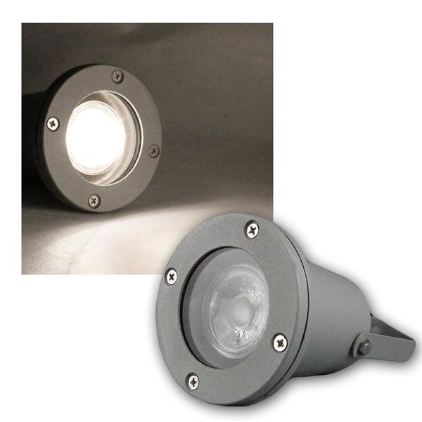 Gartenstrahler grau IP44 COB LED daylight 5W 420lm