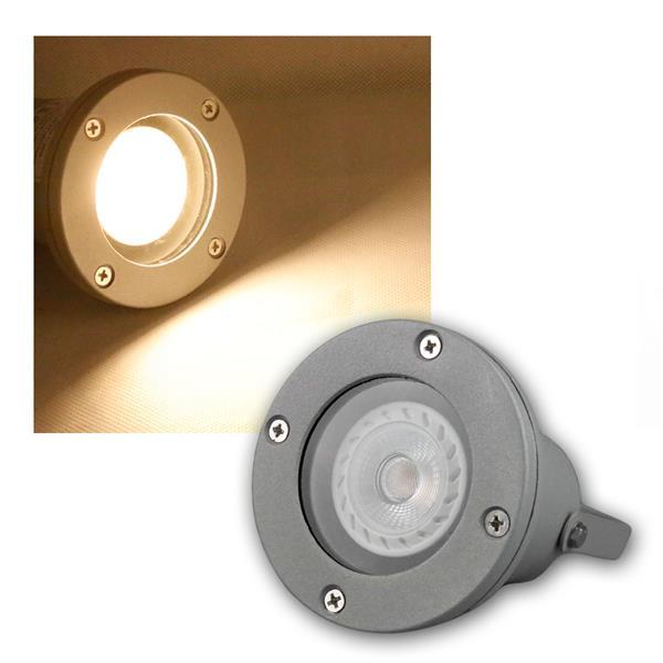 Gartenstrahler grau IP44 COB LED warmweiß 7W 500lm