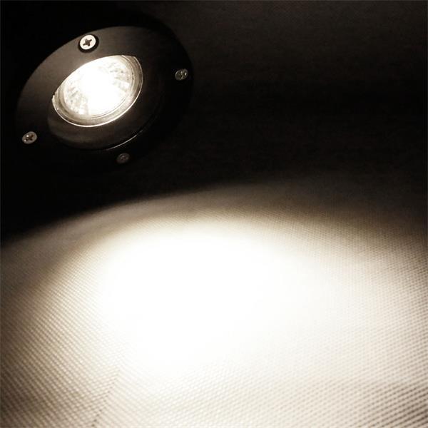 Gartenstrahler schwarz IP44 mit 3W GU10 COB Leuchtmittel