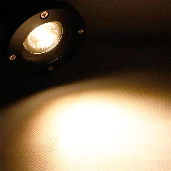 IP44 Gartenstrahler schwarz mit 5W GU10 COB Leuchtmittel
